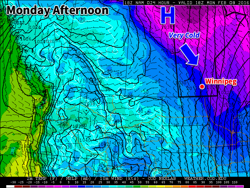 Colder weather is expected this week behind the weekend's departing low pressure system