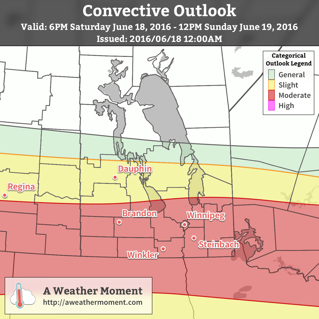 AWM Convective Outlook for June 18/19, 2016