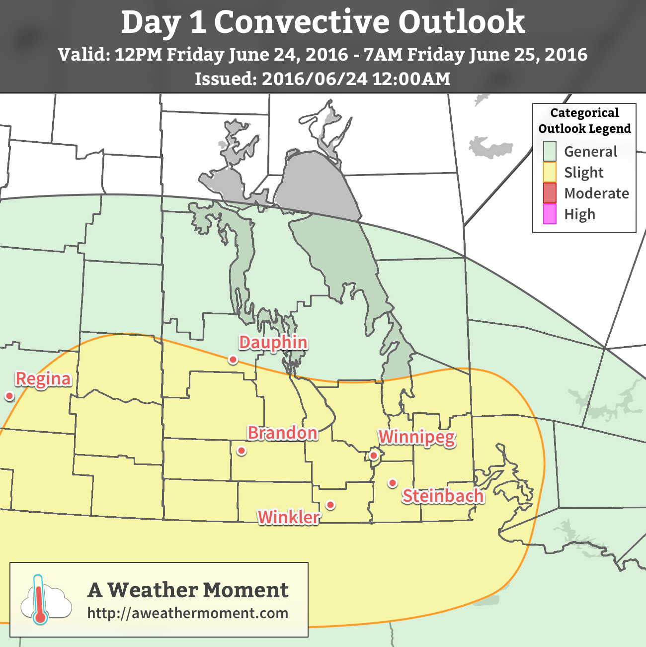 AWM Convective Outlook for June 24/25, 2016