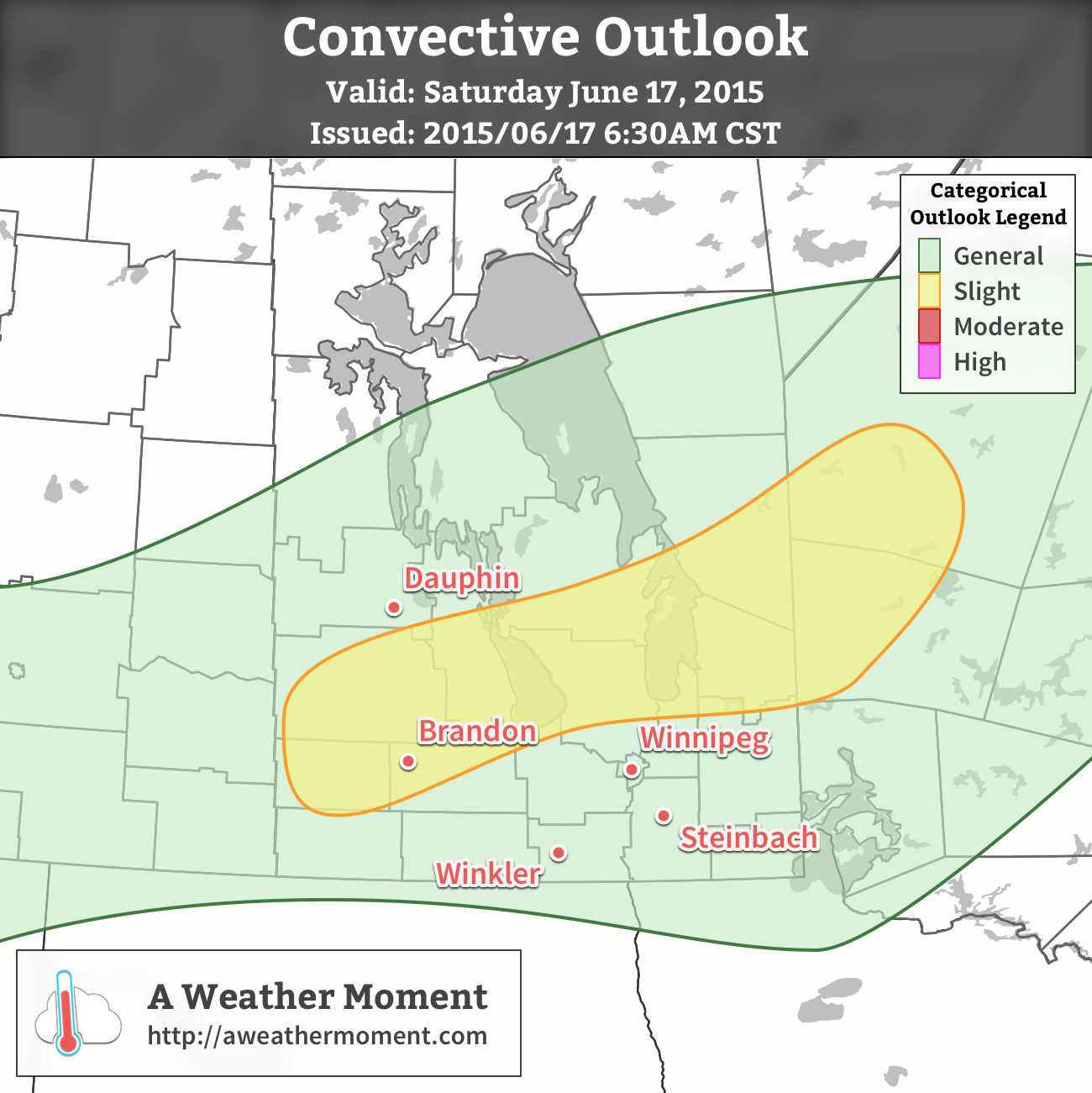 AWM Convective Outlook for June 17, 2015