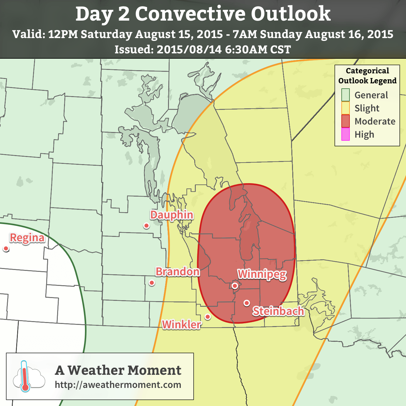 AWM Day 2 Convective Outlook – Saturday August 15, 2015 to Sunday August 16, 2015