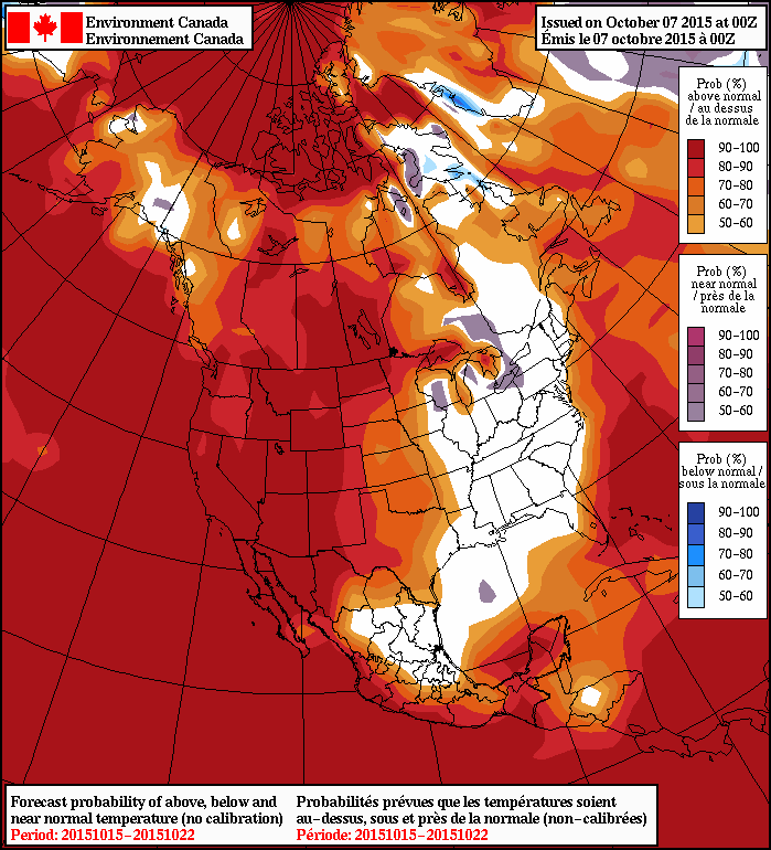 NAEFS 8-14 Day Temperature Anomaly Outlook