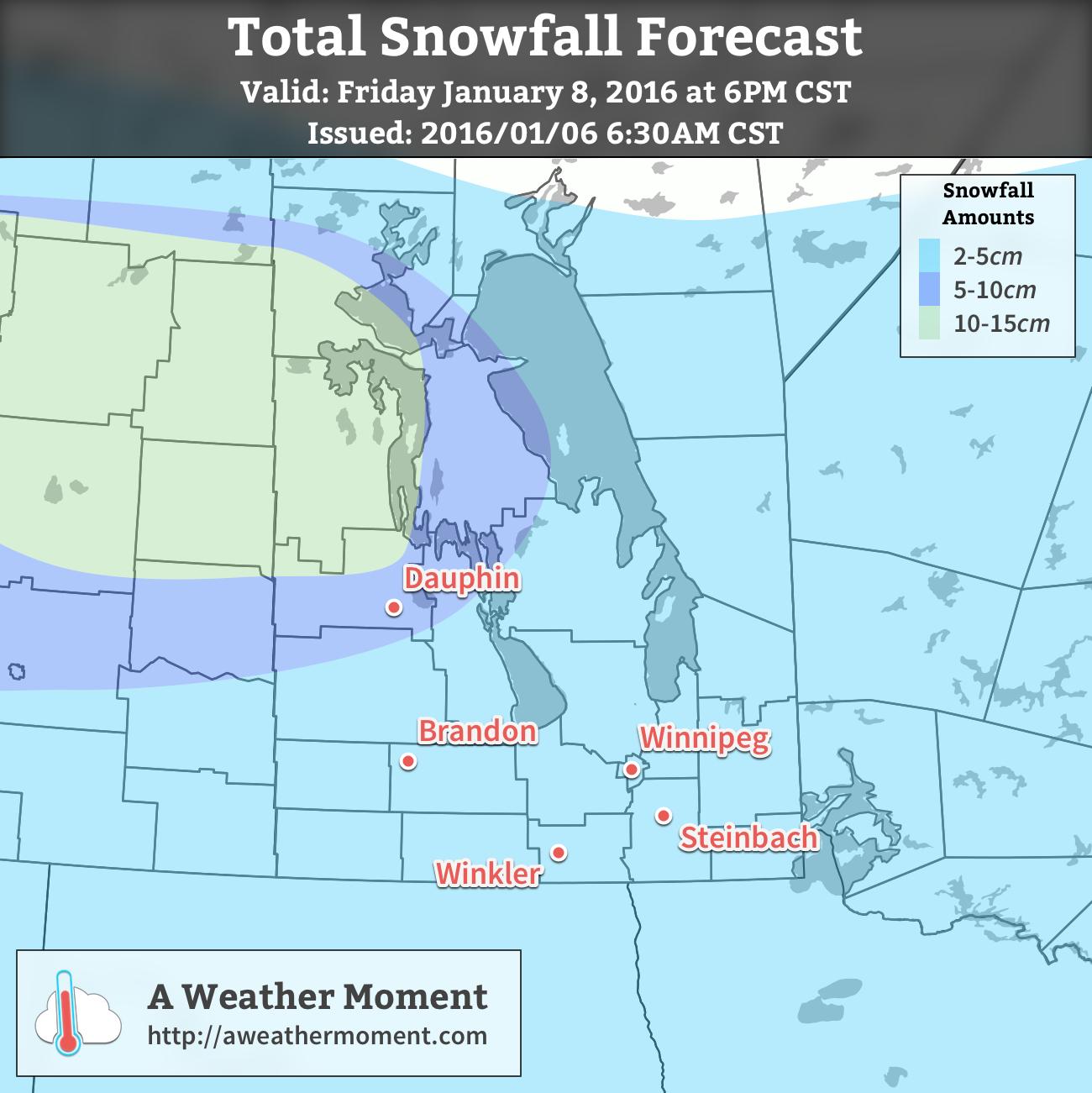AWM Snowfall Forecast for January 7-8, 2016