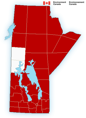 Environment Canada's extreme cold warning issued Thursday afternoon.