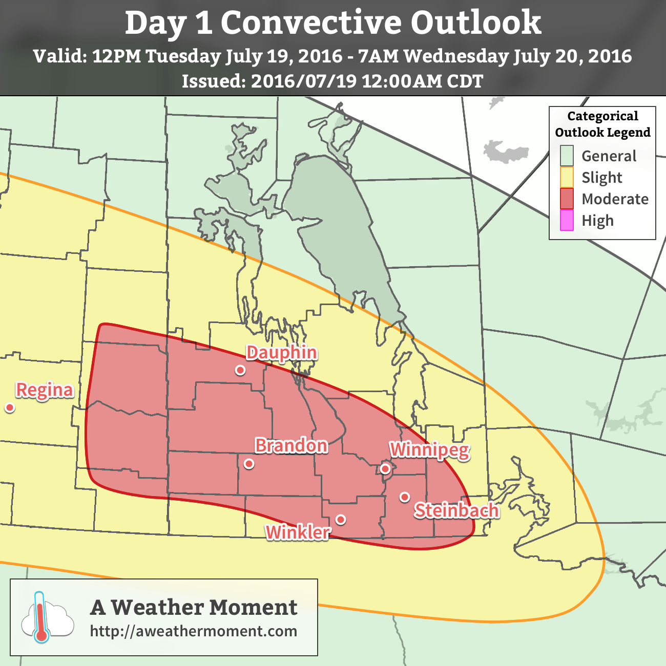 AWM Day 1 Convective Outlook for Tuesday July 19, 2016