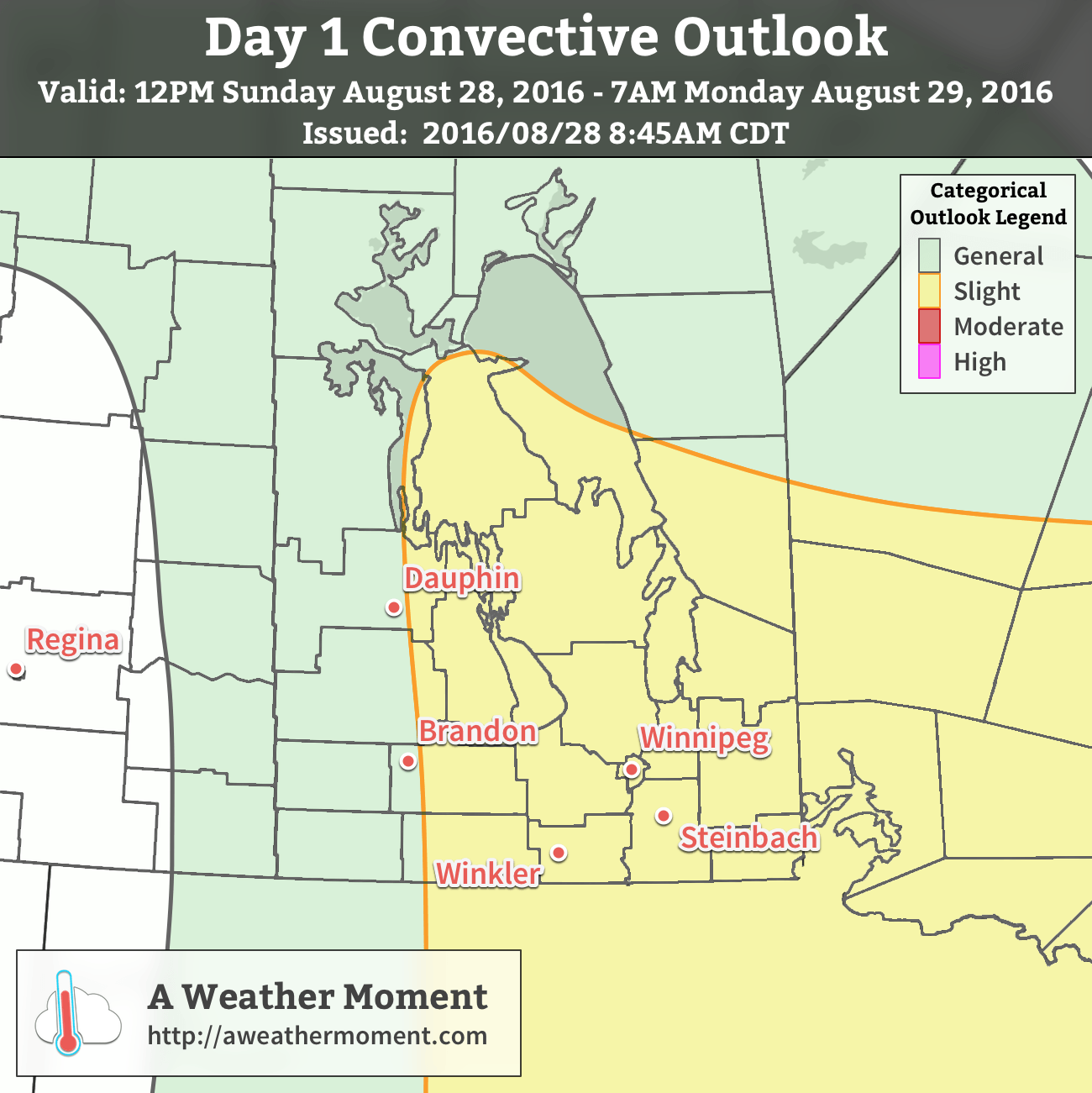 AWM Day 1 Convective Outlook – August 28, 2016