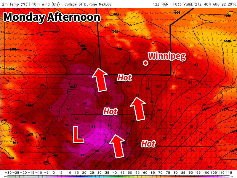 Hot weather is in store for southern Manitoba early this week