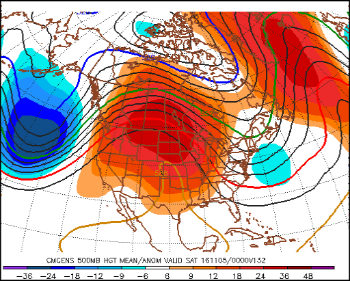 An unusually strong upper-level ridge will build over Manitoba by next weekend