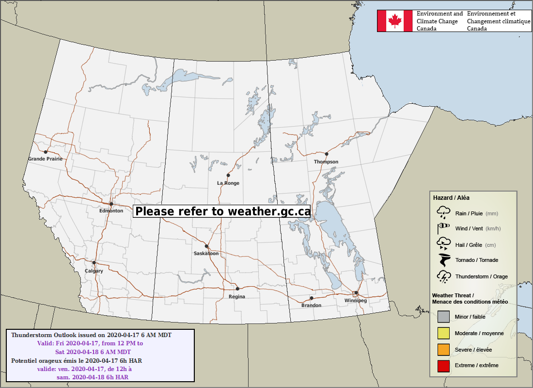 Latest Prairie Thunderstorm Outlook